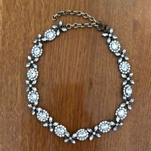 JCrew Rhinestone Statement Choker With Extender